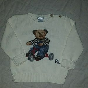 Ralph  Lauren signature bear sweater